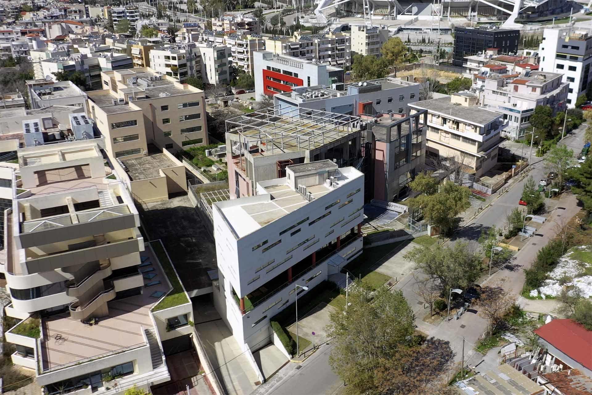 Προώθηση ακινήτου - κτίριο με drone