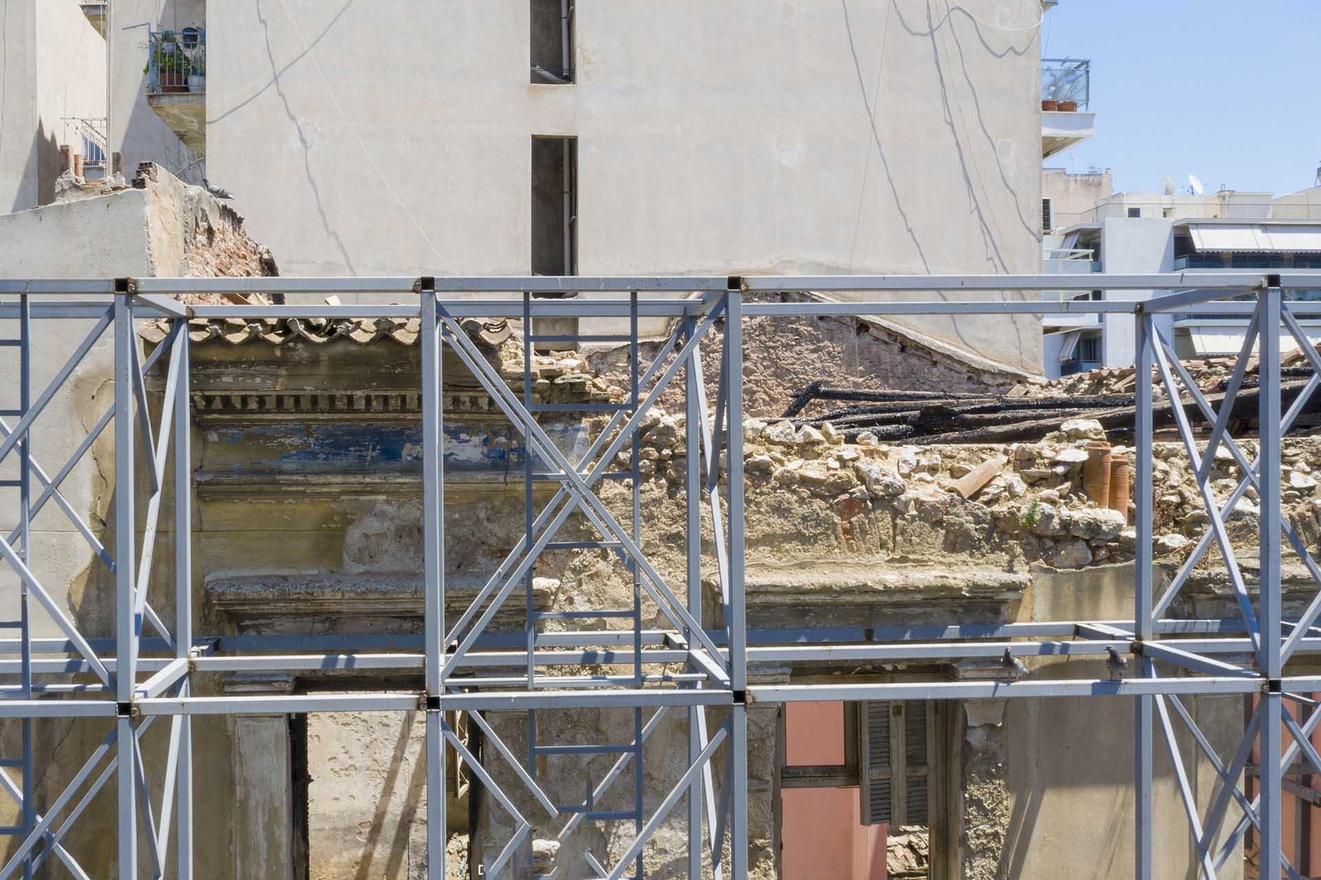 φωτογράφιση κτιρίου με drone