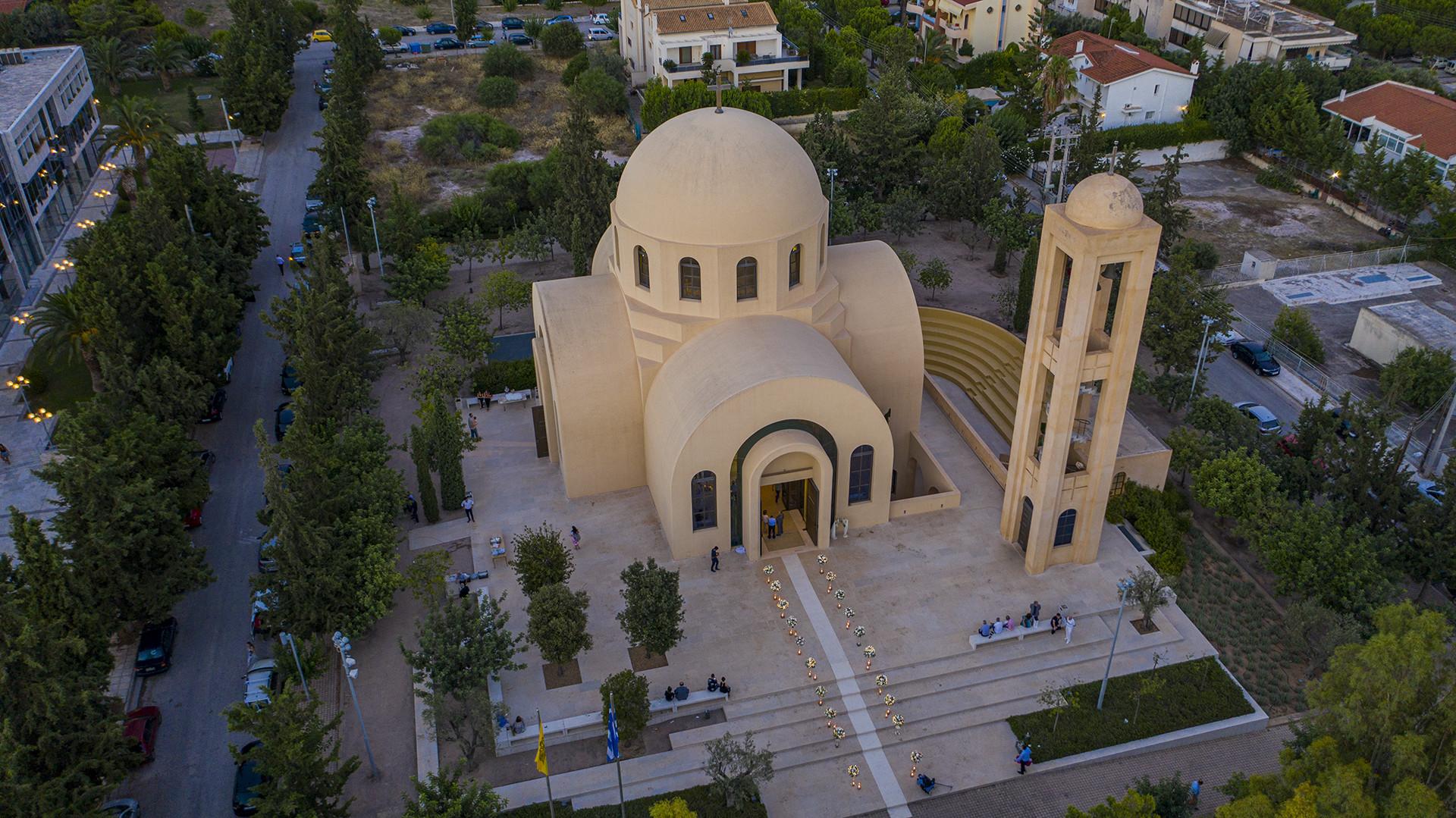 εκκλησία με drone