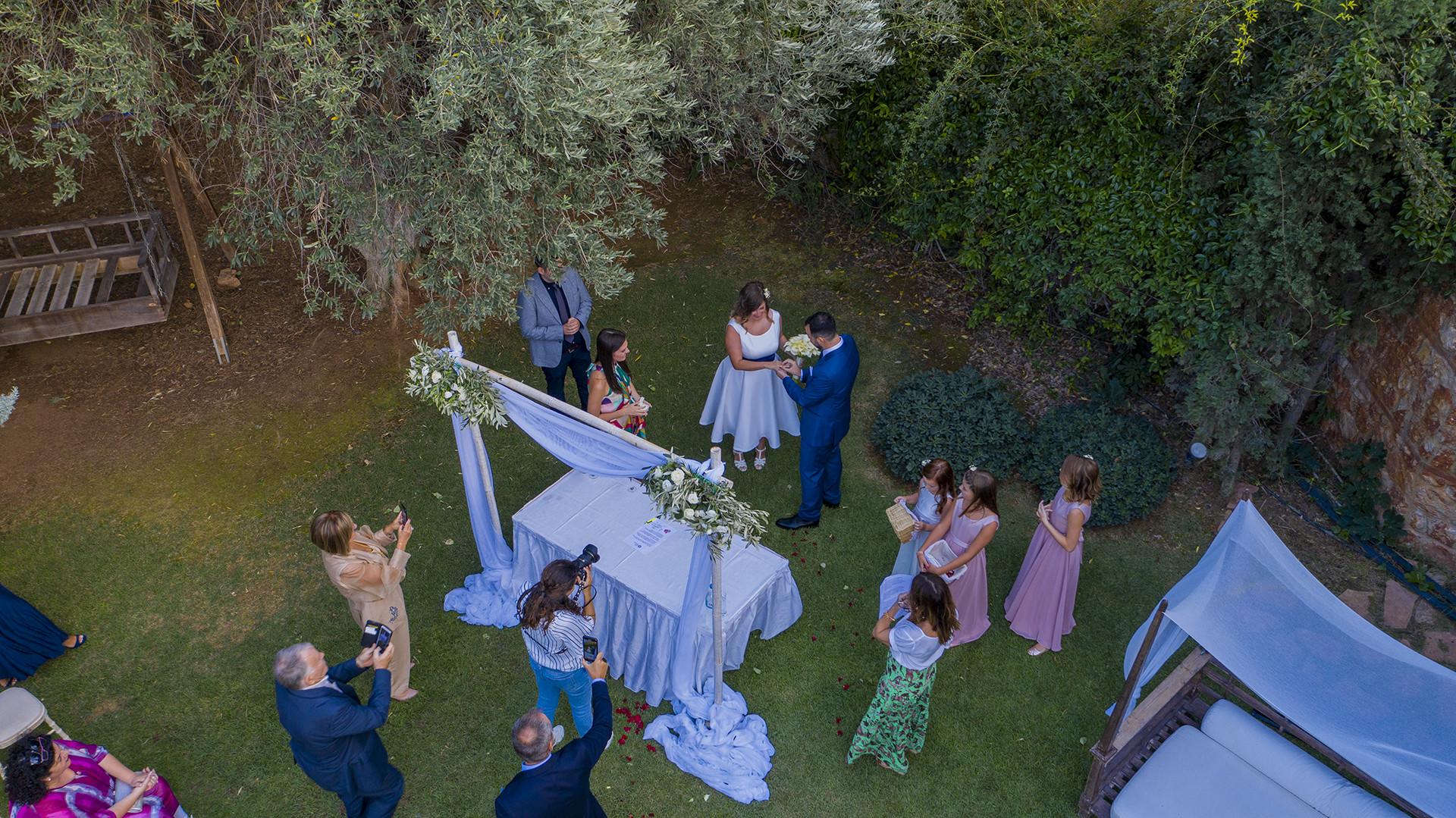 φωτογράφιση γάμου με drone