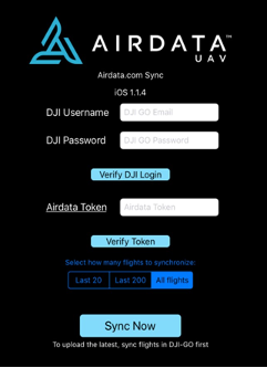 airdata-menu